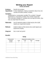 Scientific Reports Word Template Microsoft Report