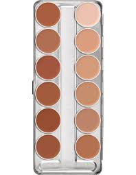 Supracolor Color Chart Supracolor Palette 12 Colors Kryolan Professional Make Up