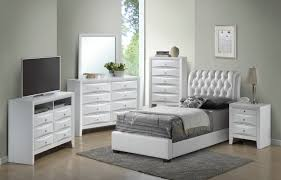 Glory Glory Furniture G1570 Twin Button Tufted Bed in White G1570C