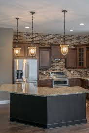 Modern Backsplash Tile Rustic Brick Glass Kitchen Ideas Alternatives Yes Or  No Cost Yellow Walls White In Subway With Accent How To Install Veneer ...