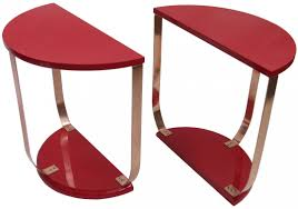 red lacquered furniture. Red Lacquer American Art Deco Side Table Pair Lacquered Furniture