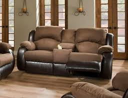 southern motion reclining leather sofa with console
