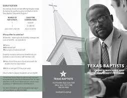 Texas Baptists - Church Matching & Benefit Program