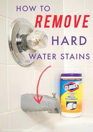 how to clean hard water stains from fiberglass bathtub glass designs howtoremoveshowerglassdoors