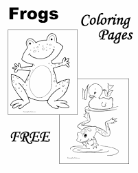 Frog crafts and learning activities for kids. Frog Coloring Pages