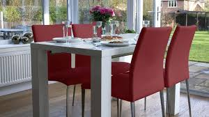red faux leather dining chairs modern white gloss extending table and red leather dining chairs milan faux leather red dining chairs