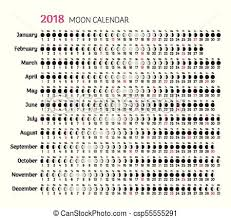 Moon Chart October 2018 2018 Flat Lunar Calendar