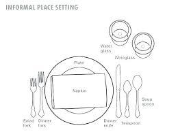 Table Setting Templates Table Place Setting Template Christmas Settings Wedding