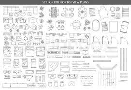 floor plan furniture vector. Isolated Vector Illustration. Furniture And Elements For Living Room, Bedroom, Kitchen, Office, Bathroom. Floor Plan. Sketch Of Furniture, Plan O