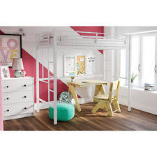 cheap teen bedroom furniture. Fine Cheap Solid White Metal Twin Size Loft Bed Frame Bunk Kids Teen Bedroom Furniture  Dorm Throughout Cheap