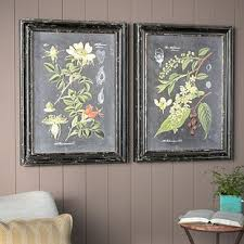 midnight botanicals 2 piece framed photographic print set on wood on 2 piece framed wall art with framed wall art birch lane
