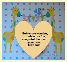 colorful baby congratulations card with s and polka dots