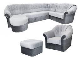 Wohnlandschaft Set Calimero 1 Mit Staukasten Und Bettfunktion Inkl Sessel Und Hocker Staukasten Rechts