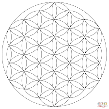 Small Picture Flower of Life Mandala coloring page Free Printable Coloring Pages
