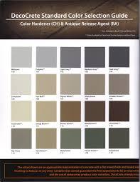 Color Charts Harber Concrete Construction Llc