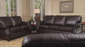 Top Grain Leather Living Room Set Beckett 4 Piece Top Grain Leather Set Video Gallery