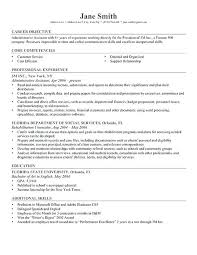 Student Resume Objective Examples Professional Gray High School