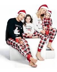 Family Matching Christmas Pajamas PJs Sets Kids Parents Sleepwear Nightwear Baby 70-100 2 Amazing Deal on