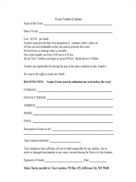 Event Vendor Contract Template Template Sample Supplier Agreement Template 3
