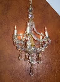 dolls house 5 candle lit chandelier