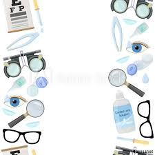 Seamless Vertical Borders Of Medical Optometry Accessory For