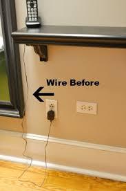 hide wires on wall diy hide tv cords