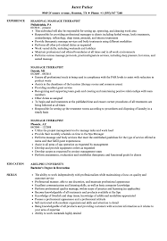Massage Therapist Resume Sample Massage Therapist Resume Samples Velvet Jobs 16