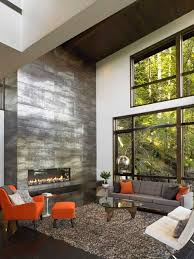 Great Room with Floor to Ceiling Fireplace modern-living-room