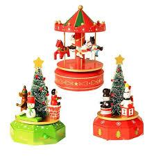 decoration innovative wooden box tree wooden horse snowman shape children gift