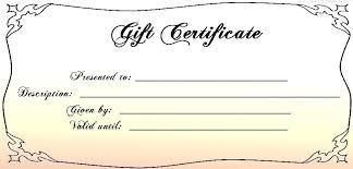 Custom Gift Certificate Templates Free Custom Gift Certificate Sample Free Customizable Christmas