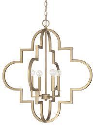 capital lighting ellis quatrefoil 4 light pendant large transitional pendant lighting