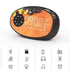 Bluetooth Speaker <b>HD Mirror</b> Electronic <b>Alarm Clock</b>, Adjustable ...