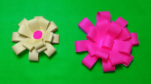 How To Make A Paper Ribbon Flower Paper Flowers How To Make Easy Paper Bow Gift Wrapping Simple Paper