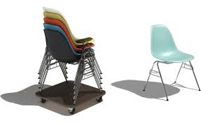 eames molded chair. Eames® Molded Plastic Side Chair With Stacking Base Eames E