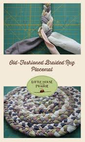 old fashioned braided rug placemat