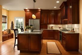 Kitchens With Cherry Cabinets Cool Cherry Kitchen In Autumn Blush KraftMaid