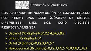 Unidad 3: Sistemas de Numeración. Í ndice Definición y Principios. Sistema  de numeración decimal. Sistema de numeración binario. Conversión de un  número. - ppt descargar