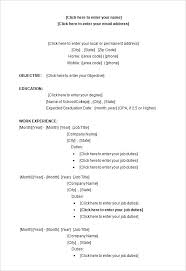 Free Resume Templates Word Document Template Word Resume Templates