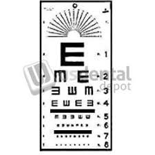 Eye Chart Tumbling E 10 Ft