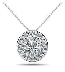 round diamond pendant 3031 1 900 00 18k white gold
