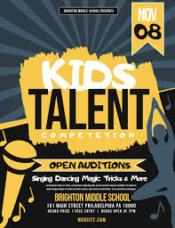 Talent Show Flyer Design Kids Talent Show Template Postermywall