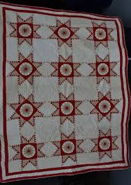 MARIE MILLER ANTIQUE QUILTS & Feathered Star Antique Quilt #18169 Adamdwight.com