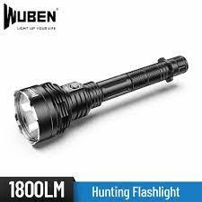 WUBEN H8 uzun menzilli atma 1000 metre CREE XHP35 LED kendini savunma  meşale ışık 18650 pil açık avcılık balıkçılık el feneri|LED Fenerler