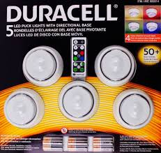 Costco Led Can Lights Costco Duracell 5 Led Puck Lights Directional Base Remote