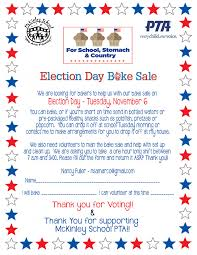 Pta Elections Flyer Calling All Bakers Volunteers For This Years Election Day Bake