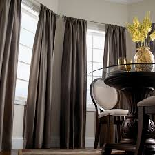 Dining Room Curtains Dining Room With Grey Walls And Modern - Modern dining room curtains