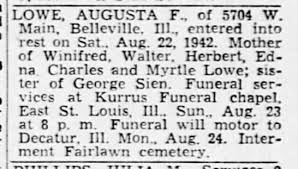 Obituary August Sien Lowe - Newspapers.com
