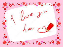 card i love you too vector by