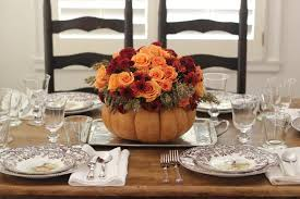... Hgtv Thanksgiving Decorations : Beautiful Dining Table Design For  Thanksgiving With Rectangular Brown Wood Table Combine ...