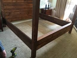 diy king size canopy bed step 8